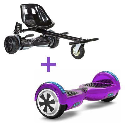 black purple hoverboard bundle
