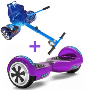 galaxy blue chrome purple hoverboard bundle