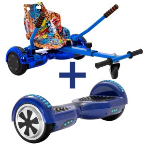 Classic Blue Hoverboard Bundle
